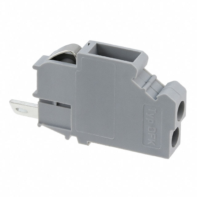 【0706032】TERM BLK SCREW CLAMP 1POS GRAY