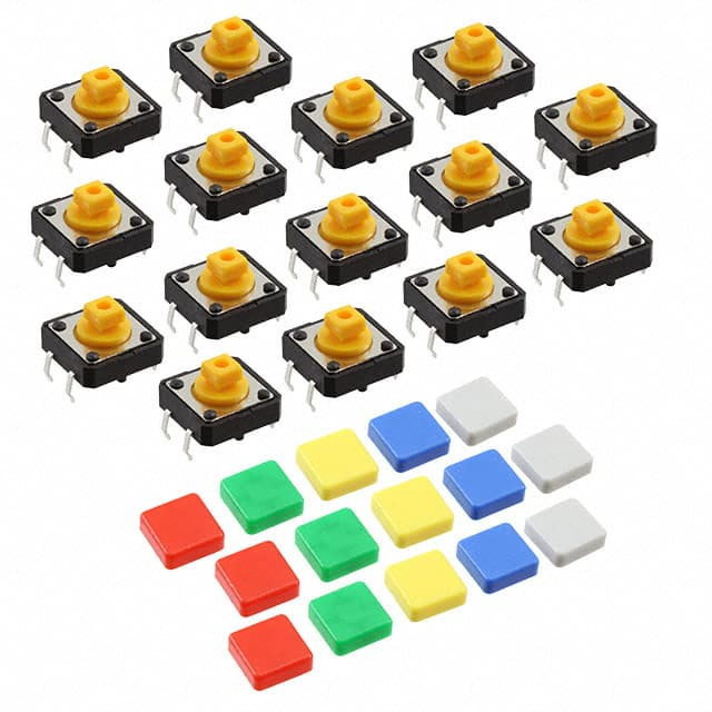 【1010】COLORFUL SQUARE TACTILE BUTTON S