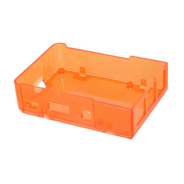 "【2250】BOX PLSTC ORANGE 3.62"""" LX2.48"""" W"