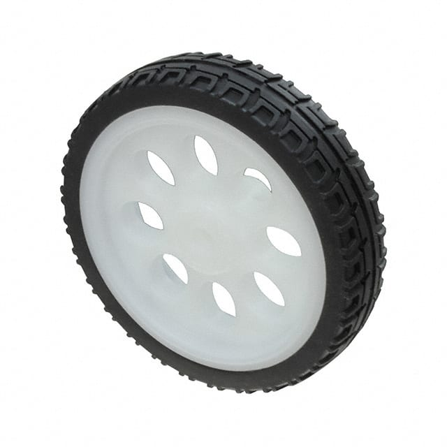 【3763】THIN WHITE WHEEL FOR TT DC GEARB