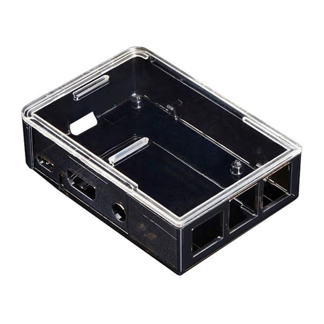 【2258】BOX POLYCARBONATE SMOKE 3.7X2.5""""