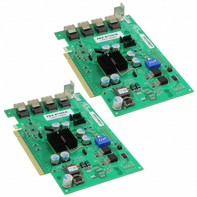【PEX-CABLEAD-KIT-8732】TWO PEX8732 ADAPTER CARDS W/ 4 M