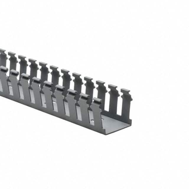 【181-22024】WIRE DUCT SLOTTED SCREW GRAY 6'