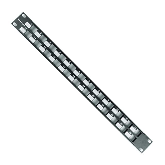 【P108-24-MOD1U】24PORT 1U MOD PATCH PANEL