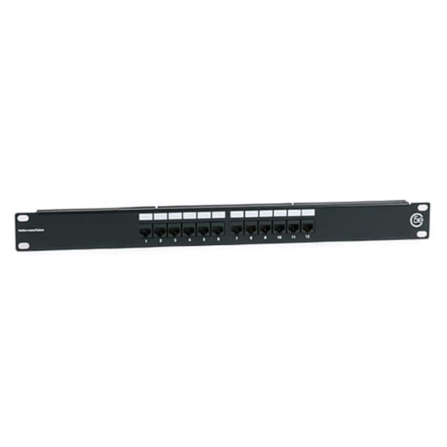 【PP110C5E12】CAT 5E UNIV 12 PORT PATCH PANEL