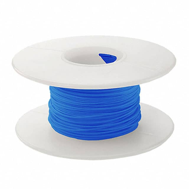 【KSW28B-0100】WIRE 28AWG BLUE 100 FT CSW