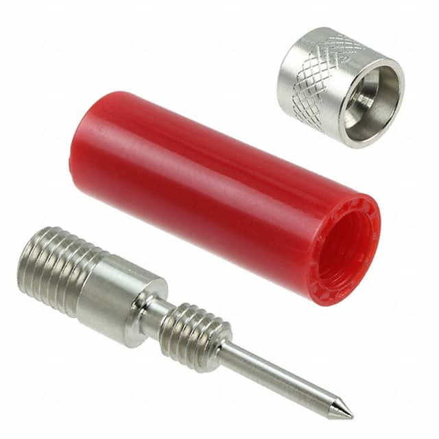 【1670】CONN TIP PLUG SOLDERLESS RED