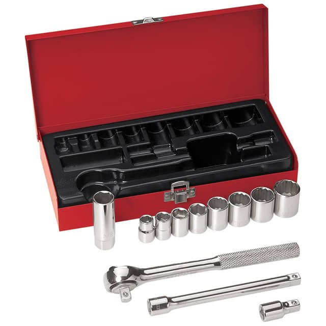 "【65504】SOCKET SET 6PT 3/8"""" 12PC"