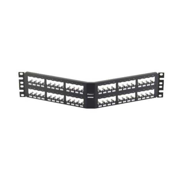 【CPA48BLY】PATCH PANEL, 48 PORT, ANGLED, AL
