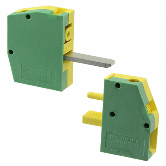 【0707769】TERM BLK SCREW CLAMP 1POS GREEN