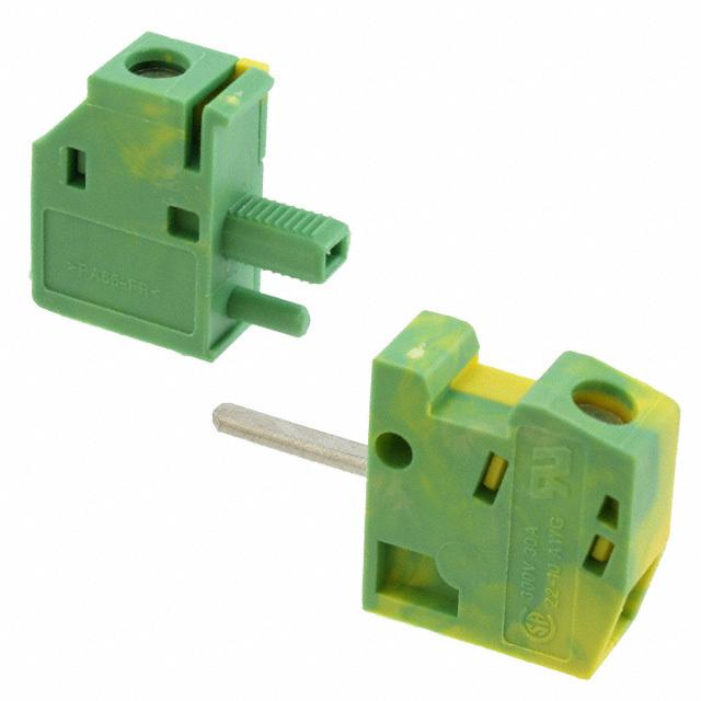 【0707866】TERM BLK SCREW CLAMP 1POS GREEN
