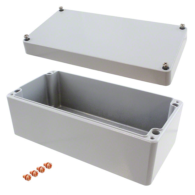 "【011020080】BOX ALUM GRAY 7.87""""L X 3.94""""W"