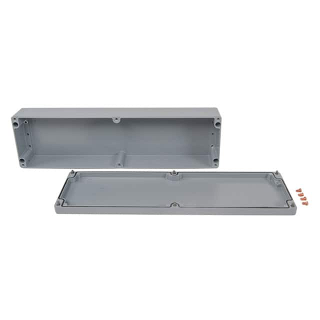 "【011656090】BOX ALUM GRAY 22.05""""L X 6.3""""W"