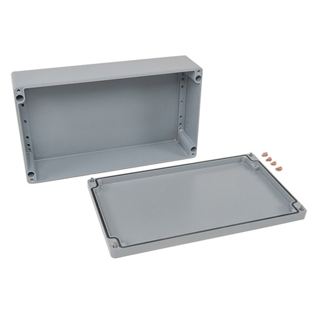 "【012340110】BOX ALUM GRAY 15.75""""L X 9.06""""W"