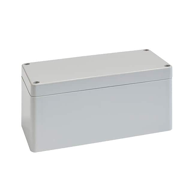 "【02231000】BOX PLASTIC GRAY 6.3""""L X 3.15""""W"