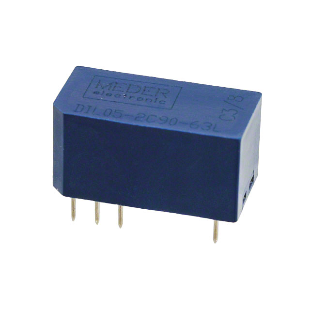 【DIL05-2C90-63L】RELAY REED DPDT 250MA 5V