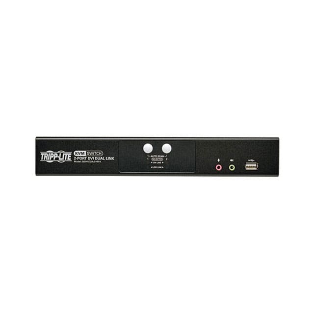 【B004-DUA2-HR-K】2 PORT KVM SWITCH (DVI/USB)