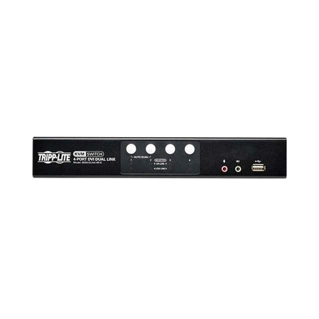【B004-DUA4-HR-K】KVM SWITCH DVI USB W/AUDIO CABLE