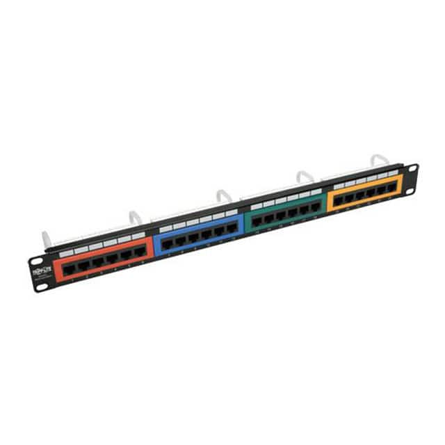 【N053-024-RBGY】24-PORT 1U RACK-MOUNT 110-TYPE C
