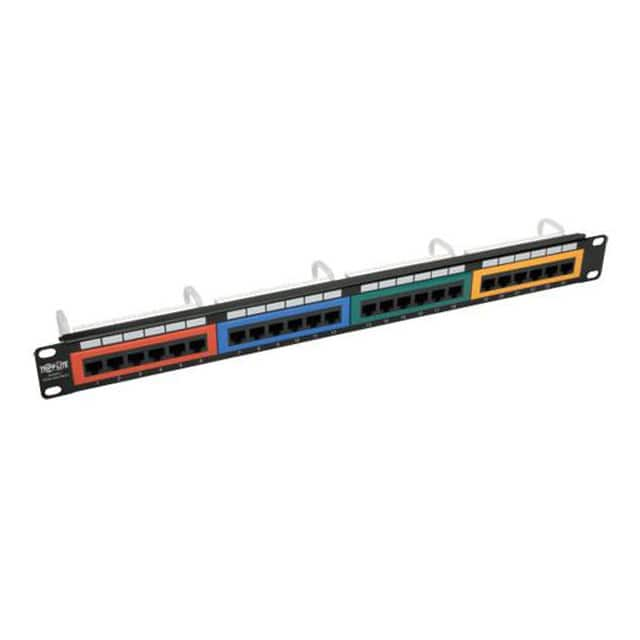 【N253-024-RBGY】24-PORT 1U RACK-MOUNT 110-TYPE C