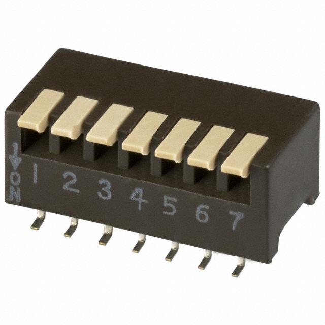 【193-7MS】SWITCH PIANO DIP SPST 50MA 24V