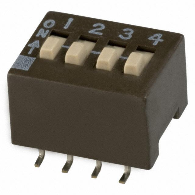 【204-4ST】SWITCH SLIDE DIP SPST 50MA 24V
