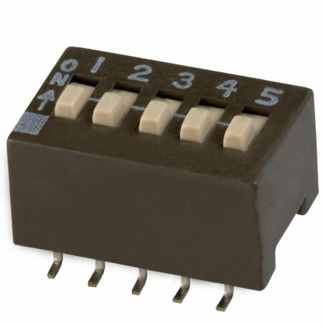【204-5ST】SWITCH SLIDE DIP SPST 50MA 24V