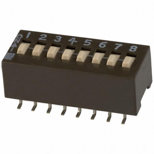 【204-8ST】SWITCH SLIDE DIP SPST 50MA 24V