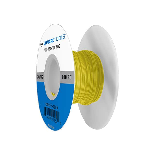 【KSW24Y-0100】WIRE 24AWG YELLOW 100 FT CSW