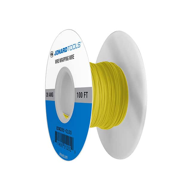 【KSW28Y-0100】WIRE 28AWG YELLOW 100 FT CSW