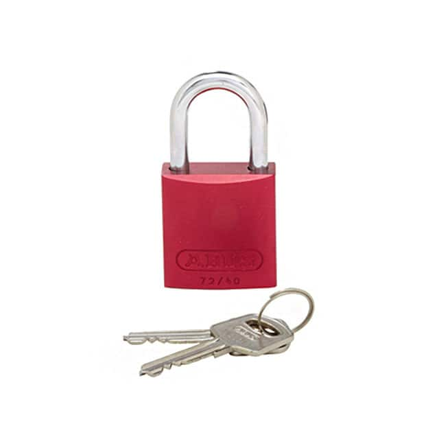 【PSL-7】ALUMINUM BODY PADLOCK RED
