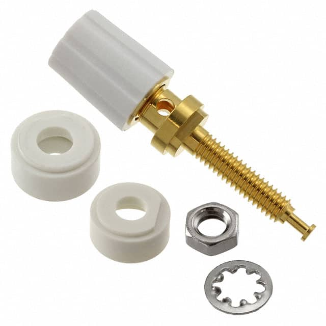 【3750-9】CONN BIND POST KNURLED WHITE