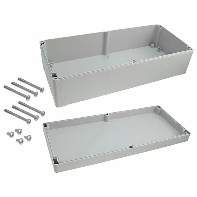 "【091636100】BOX ABS GRAY 14.17""""L X 6.3""""W"