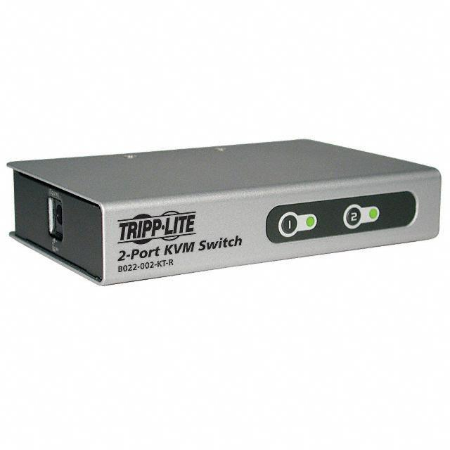 【B022-002-KT-R】SWITCH KVM PS/2 2PORT W/CABLES