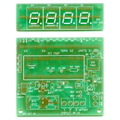 【TW-DIY-5061】LED PANEL METER KIT 3.5DIGIT