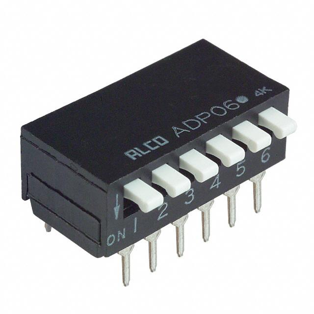 SWITCH PIANO DIP SPST 100MA 24V【1-1571999-6】