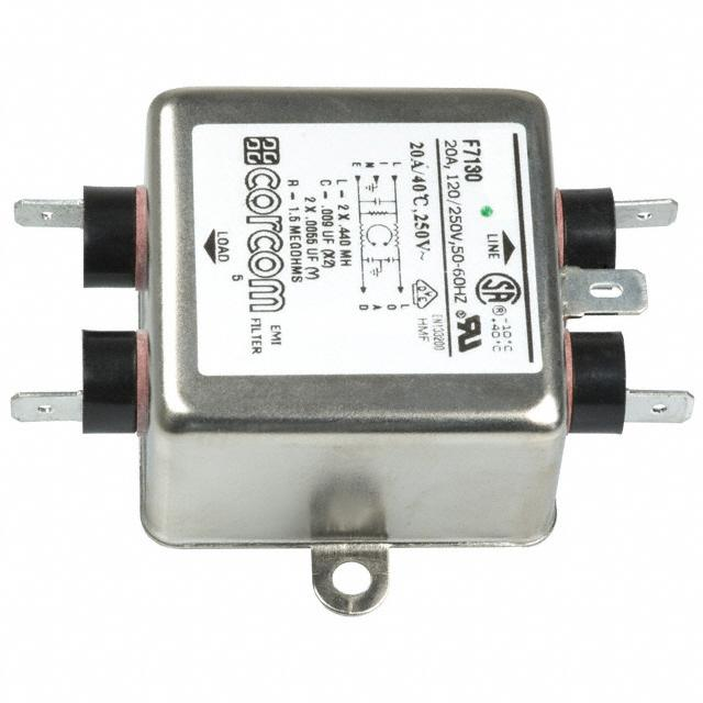 【1-6609020-1】LINE FILTER 250VAC 20A CHASS MNT