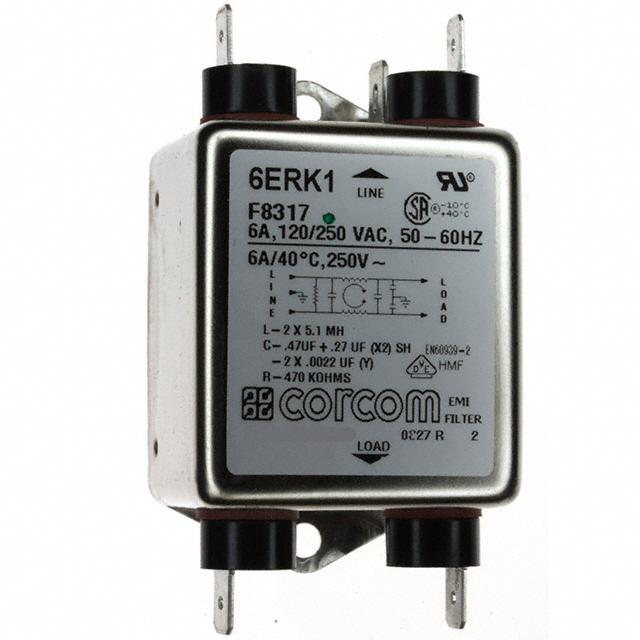 【1-1609036-8】LINE FILTER 250VAC 6A CHASS MNT