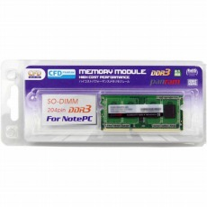 【D3N1600PS-8G】CFD Panram DDR3-1600 ノート用メモリ 204pin SO-DIMM 8GBx1