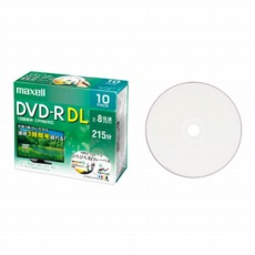 【DRD215WPE.10S】録画用DVD-R DUAL LAYER(2〜8倍速 CPRM対応) 10枚パック