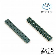 【M5STACK-BUS-SOCKET】M5Stack用2×15ピンヘッダ/ピンソケットセット