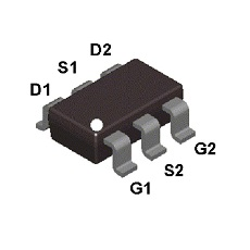 【FDC6312P】MOSFET 2P-CH 20V 2.3A SSOT-6