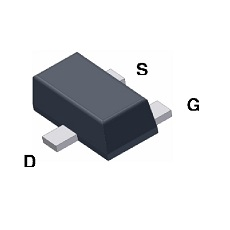 【FDY100PZ】MOSFET P SMD SC89