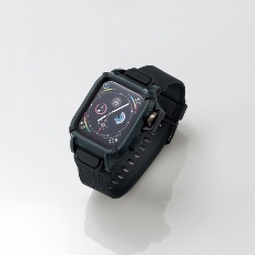 【AW-44BCNESTBK】Apple Watch用バンドケース(series 4/44mm)(ブラック)