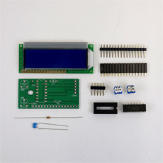 【LCD3WIRE_BOARD_BL_KIT】LCD3WIRE_BOARD(キット・液晶ブルー)
