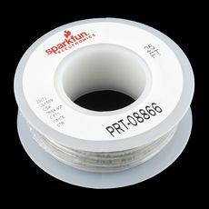 【PRT-08866】Hook-up Stranded Wire - White (22 AWG)