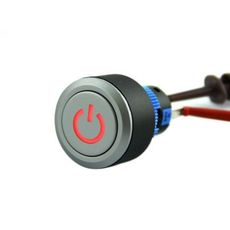 【311050007】Latching Pushbutton Switch With Power Logo