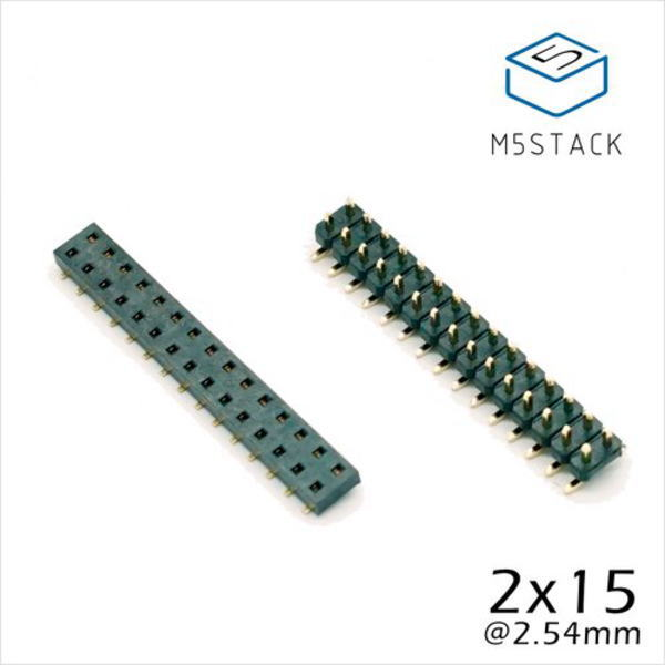 M5Stack用2×15ピンヘッダ/ピンソケットセット【M5STACK-BUS-SOCKET】